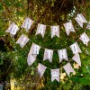 DIY Burlap & Lace Shabby Chic Frozen Birthday Banner