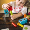 Haba Brain Builder Peg Set - Wooden Building Blocks