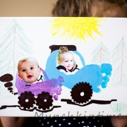 Footprint Cars on Canvas