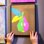 Easy Paper Crafts for Kids - Paper Pear