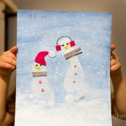 Snowman Footprint Craft Book Activity